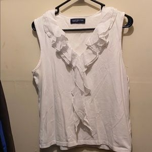 Jones New York Signature Sleeveless White Shirt
